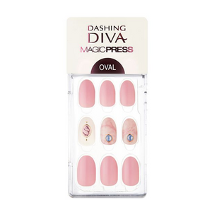 DASHING DIVA Magic Press Oval Mani Blush Marble MDR312OV