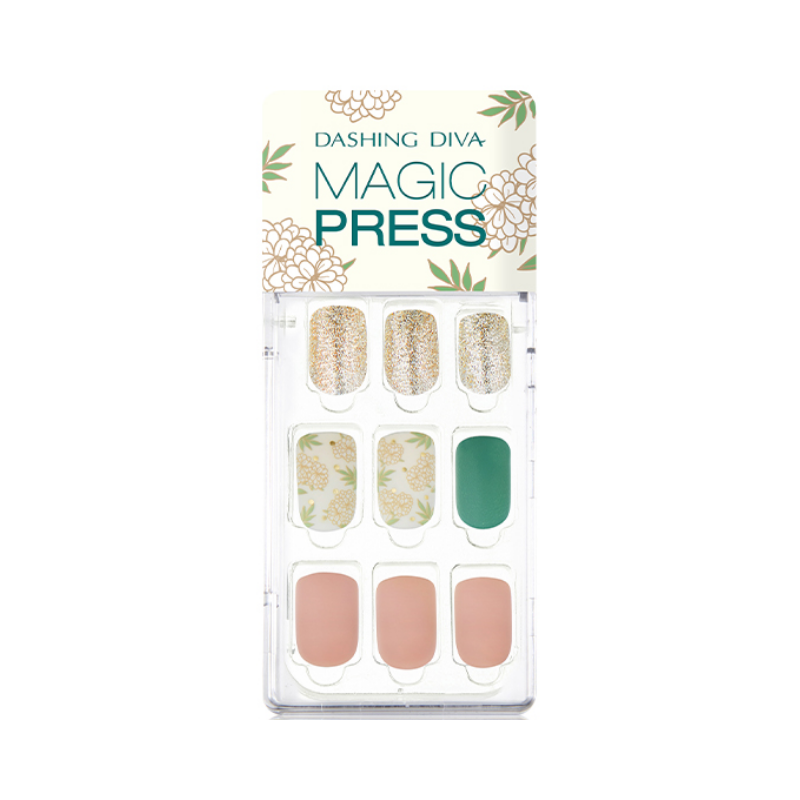 DASHING DIVA Magic Press Mani Vintage Blossom MDR497 (Fall)