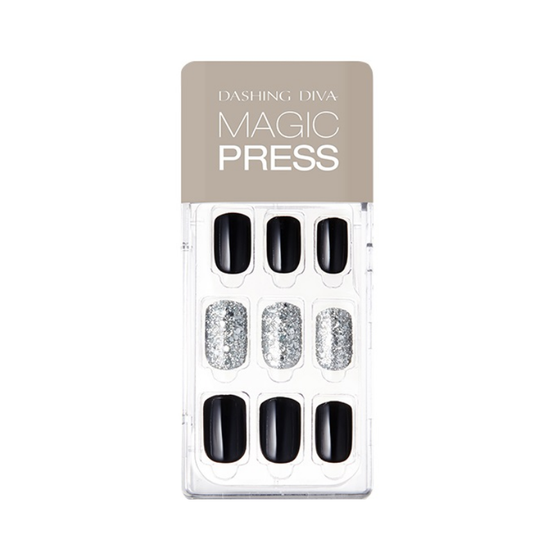 DASHING DIVA Magic Press Mani Zet Black MDR486