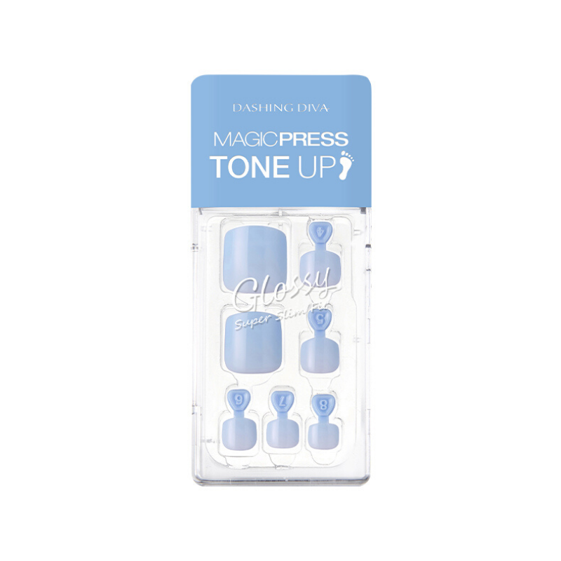 DASHING DIVA Magic Press Tone Up Pedi Frost Blue MDR635P