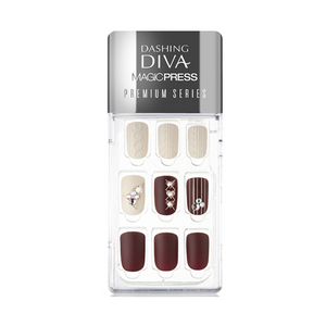 DASHING DIVA Magic Press Premium Series Mani Red Brick Sweater MDR257PR