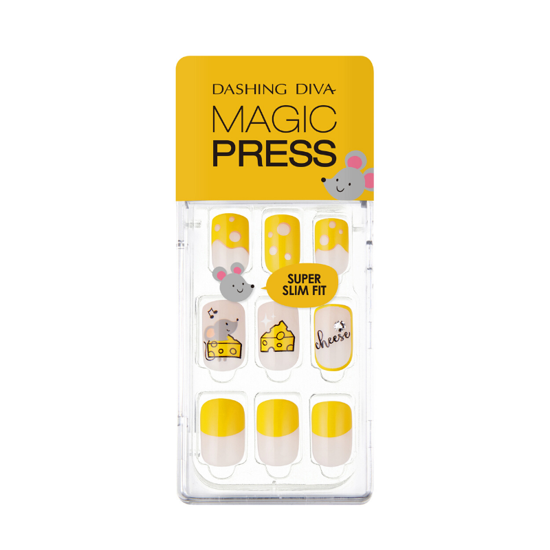 [BEST BUY] DASHING DIVA Magic Press Mani Cheese Lover MDR580 (Mighty Mouse Collection)