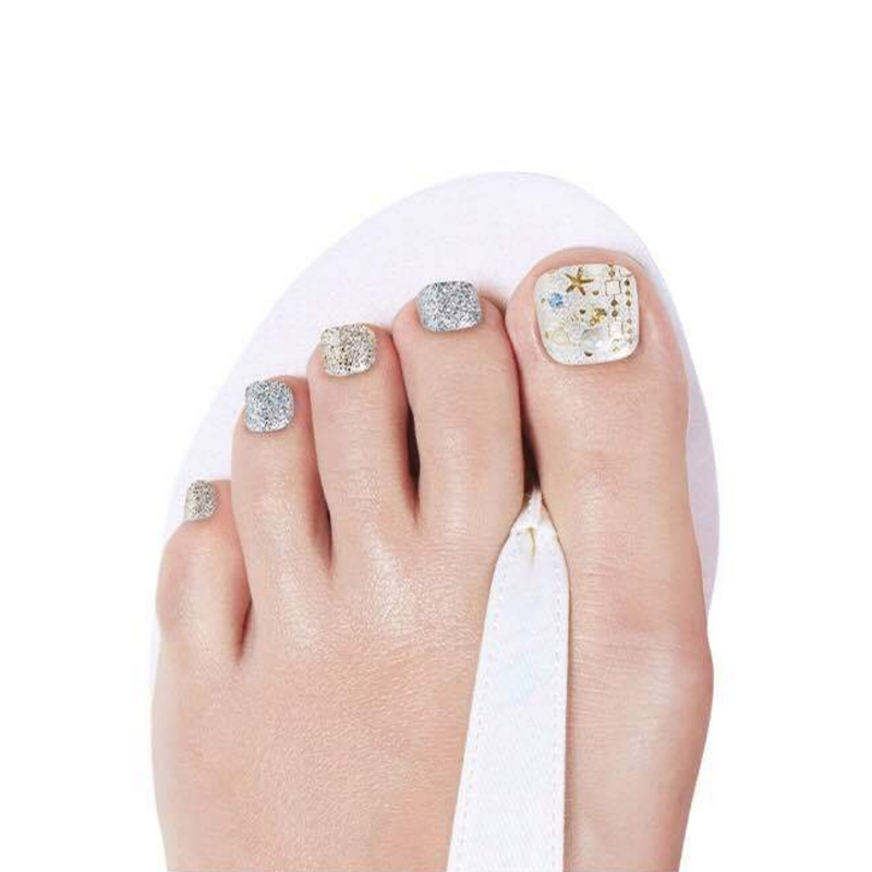 DASHING DIVA Magic Gel Strip Pedi Shelly Beach GPS19