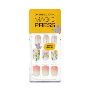 [BEST BUY] DASHING DIVA Magic Press Mani In The Flower MDR581 (Mighty Mouse Collection)