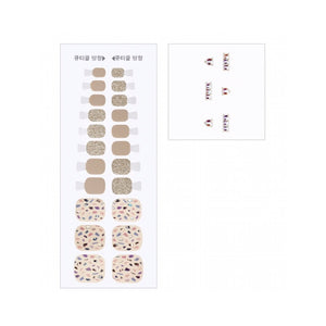 [BEST BUY] DASHING DIVA Magic Gel Strip Pedi Beige Slip GPS49