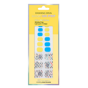 DASHING DIVA Magic Gel Strip Pedi Blue Hawaii DGST93P