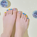 Load image into Gallery viewer, DASHING DIVA Magic Gel Strip Pedi Blue Hawaii DGST93P
