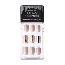 Load image into Gallery viewer, Dashing Diva Magic Press Mani Beige Metal MDR064