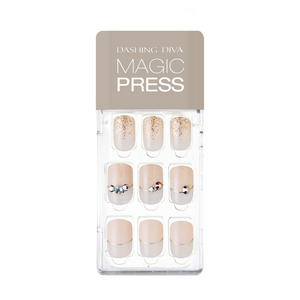 DASHING DIVA Magic Press Mani Snow White MDR607 (SOFT SHINE)