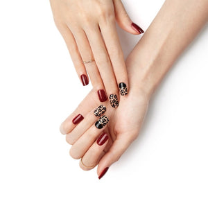 DASHING DIVA Magic Press Mani Wild Leopard MDR056