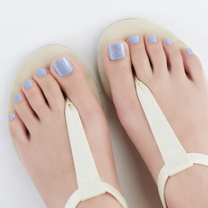 DASHING DIVA Magic Press Pedi Blue Satin MDR631P (SOFT SHINE)