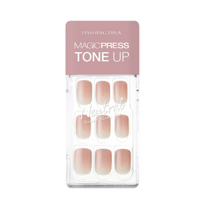 DASHING DIVA Magic Press Tone Up Mani Honey Beige MDR463