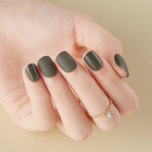 Load image into Gallery viewer, DASHING DIVA Magic Press Tone Up Mani Short Juniper Khaki MDR522SS