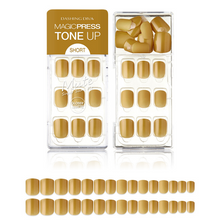 Load image into Gallery viewer, DASHING DIVA Magic Press Tone Up Mani Short Mimosa Gold MDR521SS