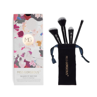 MISS GORGEOUS Beauty Brush Set (4EA) Black