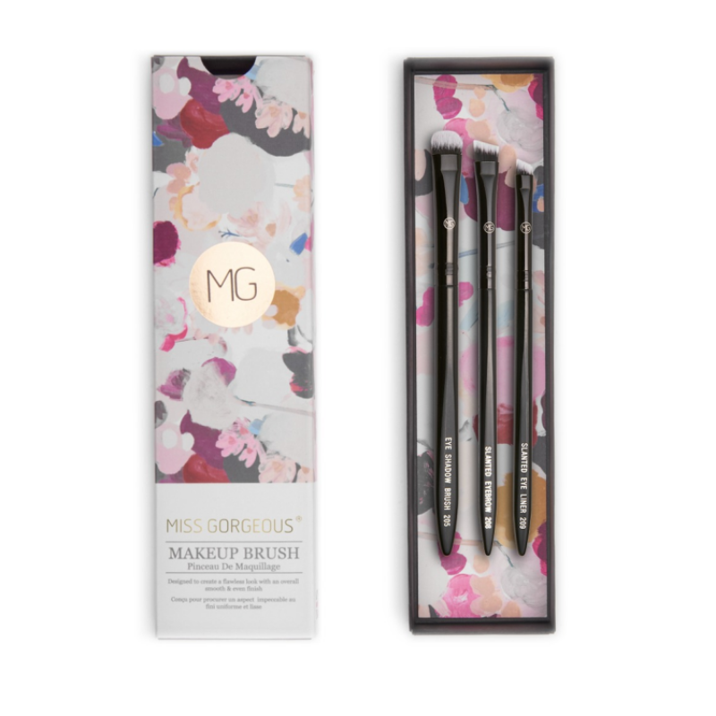 MISS GORGEOUS Eye Shadow Brush Set (3EA) Black