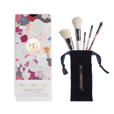 MISS GORGEOUS Beauty Brush Set (5EA) Print