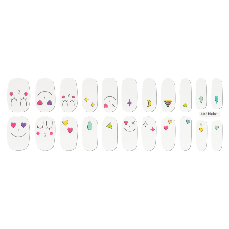 [BEST BUY] NELO Nail Palette N43 Colorful Emoji