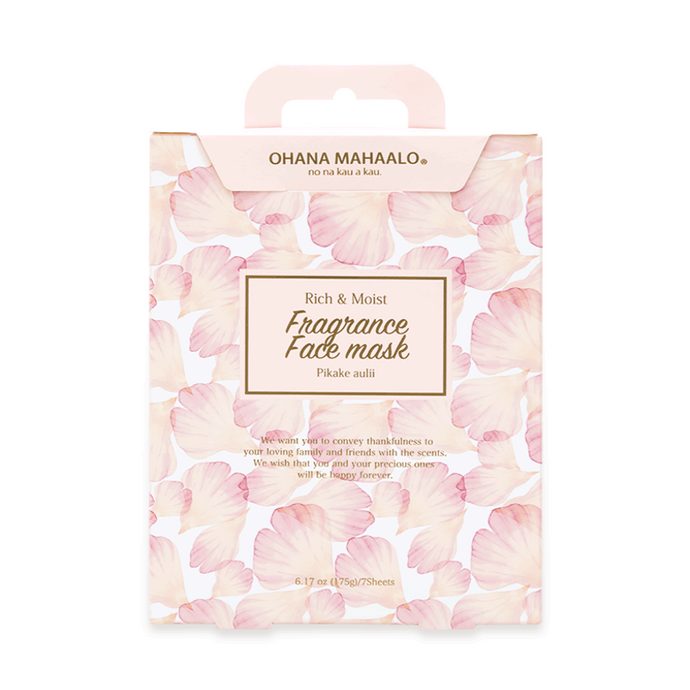 OHANA MAHAALO Fragrance Face Mask Pikake Aulii [Box of 7 pieces]