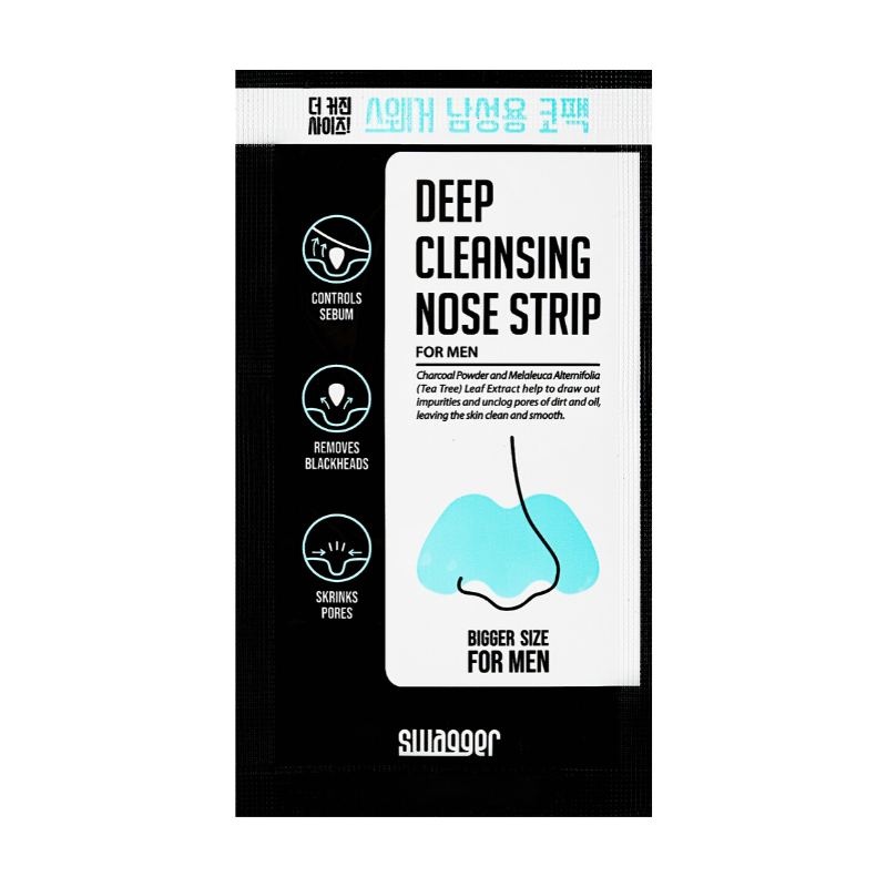 SWAGGER Deep Cleansing Nose Strip Charcoal & Tea Tree (10 Sheets)
