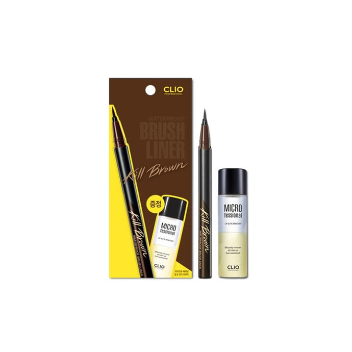 [BEST BUY] CLIO Waterproof Brush Liner Set XP (Lip & Eye Remover) [Short Expiry] [2 Colors to Choose]