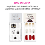 Load image into Gallery viewer, [BUNDLE] DASHING DIVA Magic Press Pedi Splendid MDR290P + Magic Press Oval Mani Best Red MDR316OV