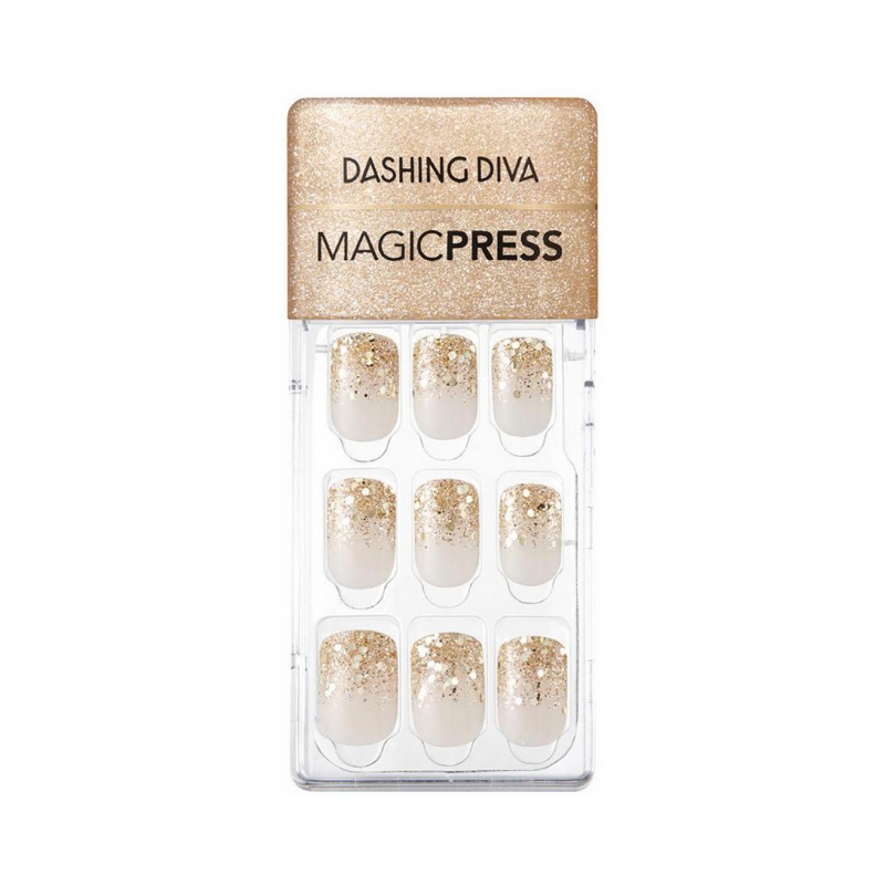 DASHING DIVA Magic Press Mani Gold Rain MDR730