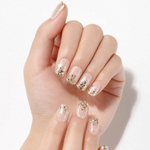 Load image into Gallery viewer, DASHING DIVA Magic Press Mani Gold Rain MDR730