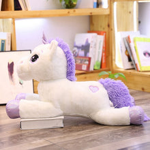 Load image into Gallery viewer, 60-110cm Giant Size Unicorn Plush Toys Cute Pink White Horse Soft Doll Stuffed Animal Large Toys For Children Girl Birthday Gift