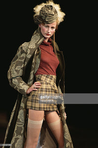 Vivienne Westwood Vintage AW 1997-98 Five Centuries Ago Couture Gold Label MacStone Pencil Corset High Waisted Skirt
