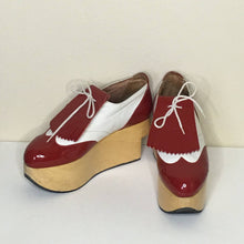 Load image into Gallery viewer, Vivienne Westwood Gold Label Rocking Horse Shoes Golfs Red Patent Leather