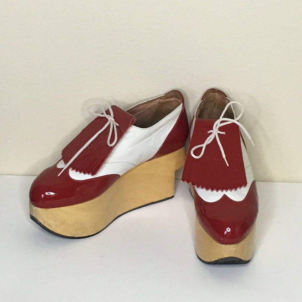 Vivienne Westwood Gold Label Rocking Horse Shoes Golfs Red Patent Leather