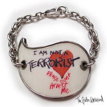 Load image into Gallery viewer, Vivienne Westwood Accessories Label I Am Not A Terrorist Bracelet