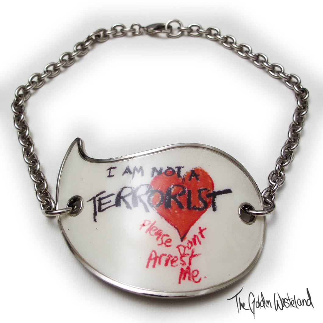 Vivienne Westwood Accessories Label I Am Not A Terrorist Choker Necklace