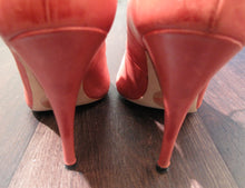 Load image into Gallery viewer, Vivienne Westwood Accessories Label Open Toe Gillie Sandal Heels Shoes Red Leather