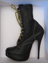 Load image into Gallery viewer, Vivienne Westwood Vintage AW 1998 Elevated Stiletto Platform Army Boots