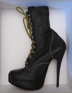 Vivienne Westwood Vintage AW 1998 Elevated Stiletto Platform Army Boots