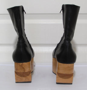 Vivienne Westwood Gold Label Rocking Horse Shoes Boots Black Kid Leather