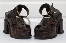 Load image into Gallery viewer, Vivienne Westwood Accessories Label Mock Croc Cocco Lucido Platform Slave Sandal Clompers
