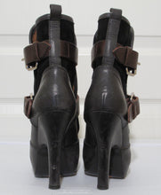 Load image into Gallery viewer, Vivienne Westwood Accessories Label Powerstation Heel Bondage Boots Black Canvas