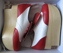 Load image into Gallery viewer, Vivienne Westwood Gold Label Rocking Horse Shoes Golfs Red and White Kid Leather