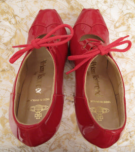 Vivienne Westwood Gold Label Custom Order Red Patent Leather Elevated Gillies Platform Shoes