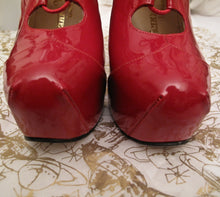 Load image into Gallery viewer, Vivienne Westwood Gold Label Custom Order Red Patent Leather Elevated Gillies Platform Shoes