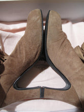 Load image into Gallery viewer, Vivienne Westwood Gold Label Grey Suede Bag Boots