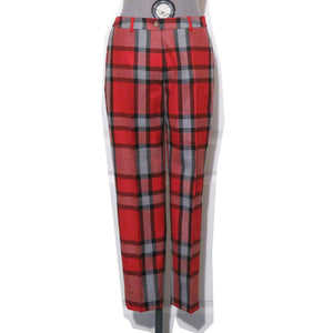 Vivienne Westwood Red Label AW 2014 3D Love Jacket Pants Suit Set in Red Tartan