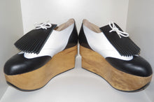 Load image into Gallery viewer, Vivienne Westwood Gold Label Rocking Horse Shoes Golfs Black and White Kid Leather