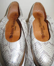 Load image into Gallery viewer, Vivienne Westwood Vintage 1980s Gold Label Rocking Horse Shoes Ballerina Grey Python