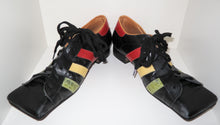Load image into Gallery viewer, Vivienne Westwood Vintage 1980s/90s Gold Label Hammerhead Trainers Black with Multi-Color Stripes