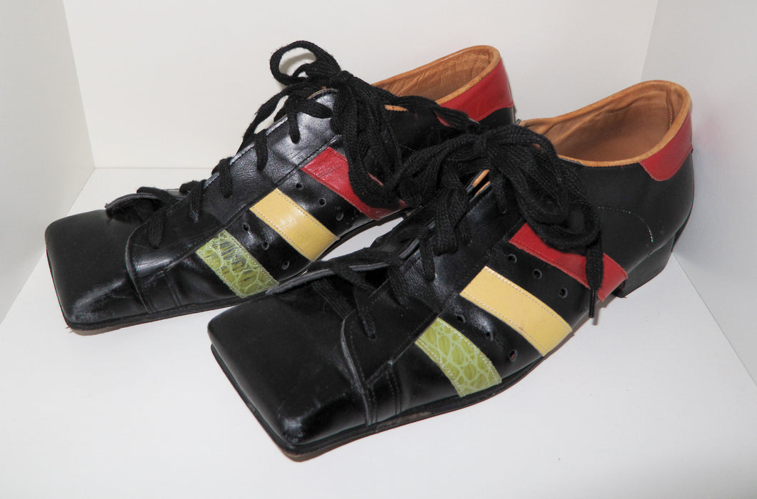 Vivienne Westwood Vintage 1980s/90s Gold Label Hammerhead Trainers Black with Multi-Color Stripes