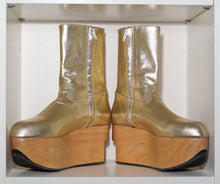 Load image into Gallery viewer, Vivienne Westwood Gold Label Rocking Horse Shoes Boots Gold Metallic
